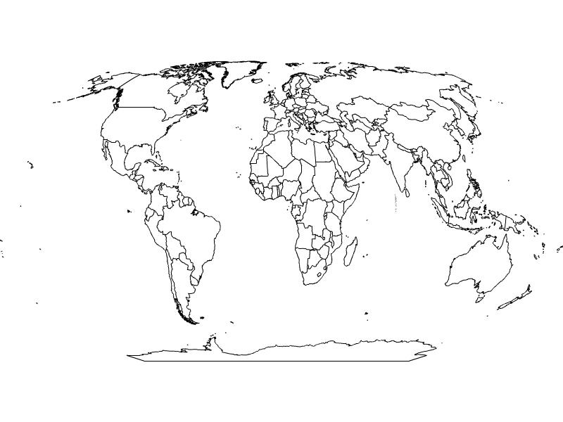 Line Art Map : Simple world map drawing pixshark images